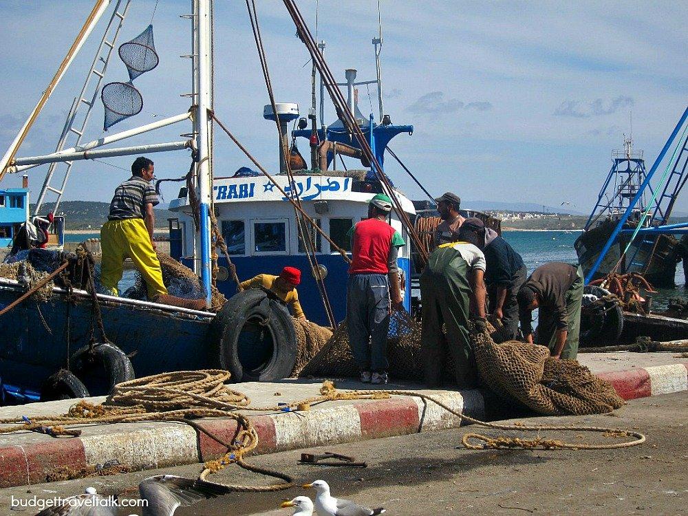 Essaouira: A working fishing port.