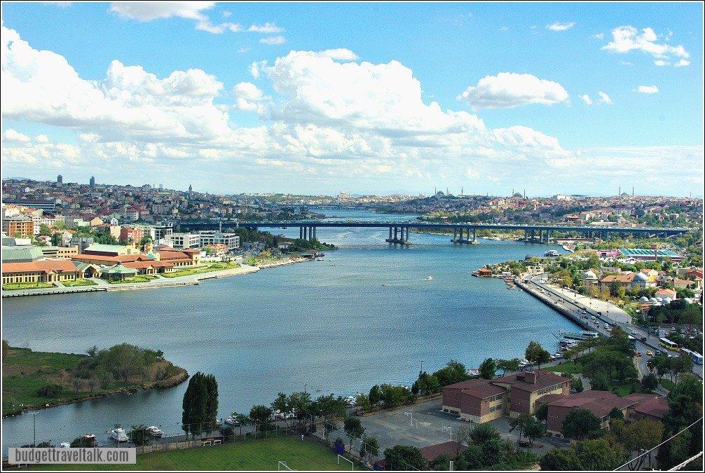 View from Pierre Loti Hill back to Eminonu Istanbul Turkey