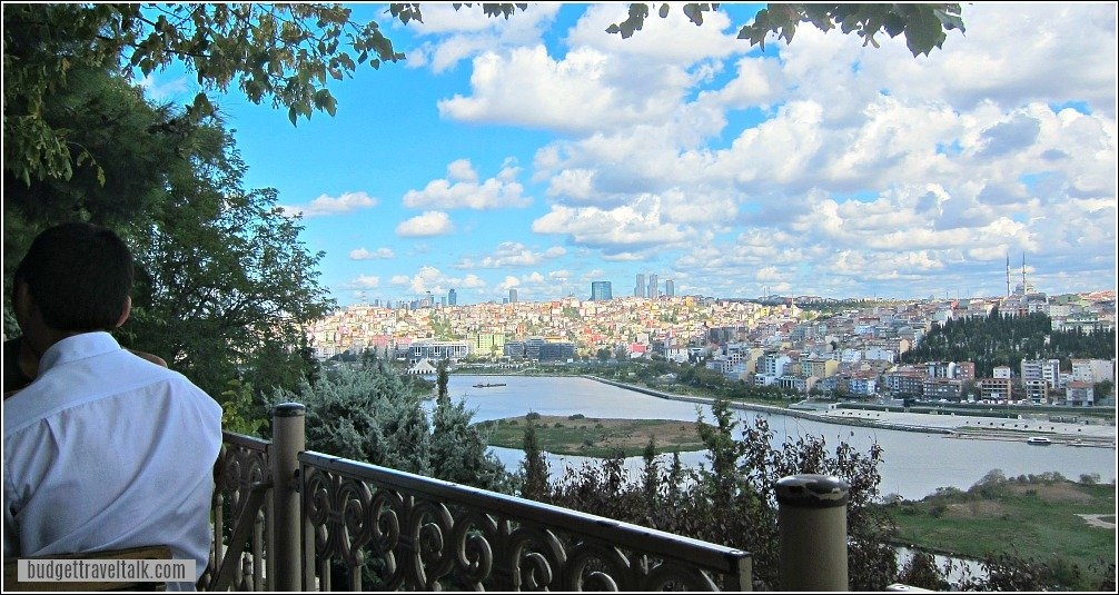 View up the Golden Horn from Pierre Loti Cafe Eyup Istanbul Turkey
