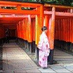 Be happy at Torii Gates Fushimi Inari Shrine Kyoto
