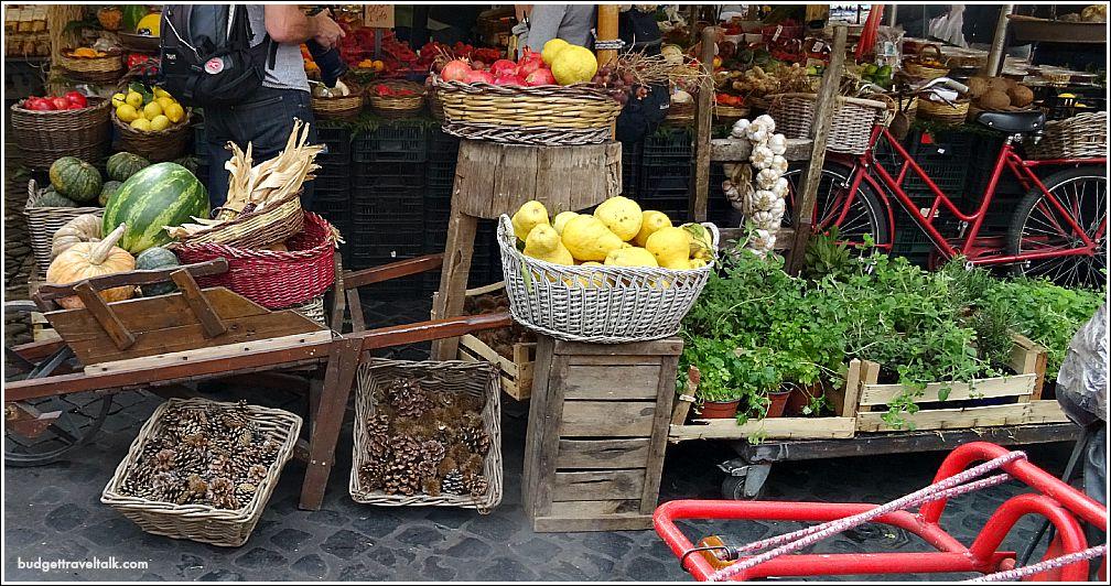 Campo de Fiori a market that grew from a Roman Meadow