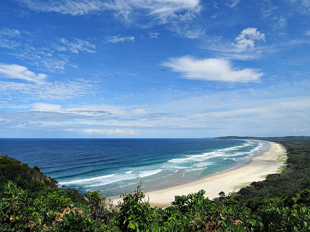Tallow Beach at Byron Bay in New South Wales