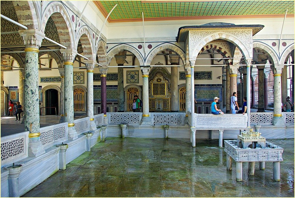 Topkapi Palace Views - Terrace with Pool and Fountain