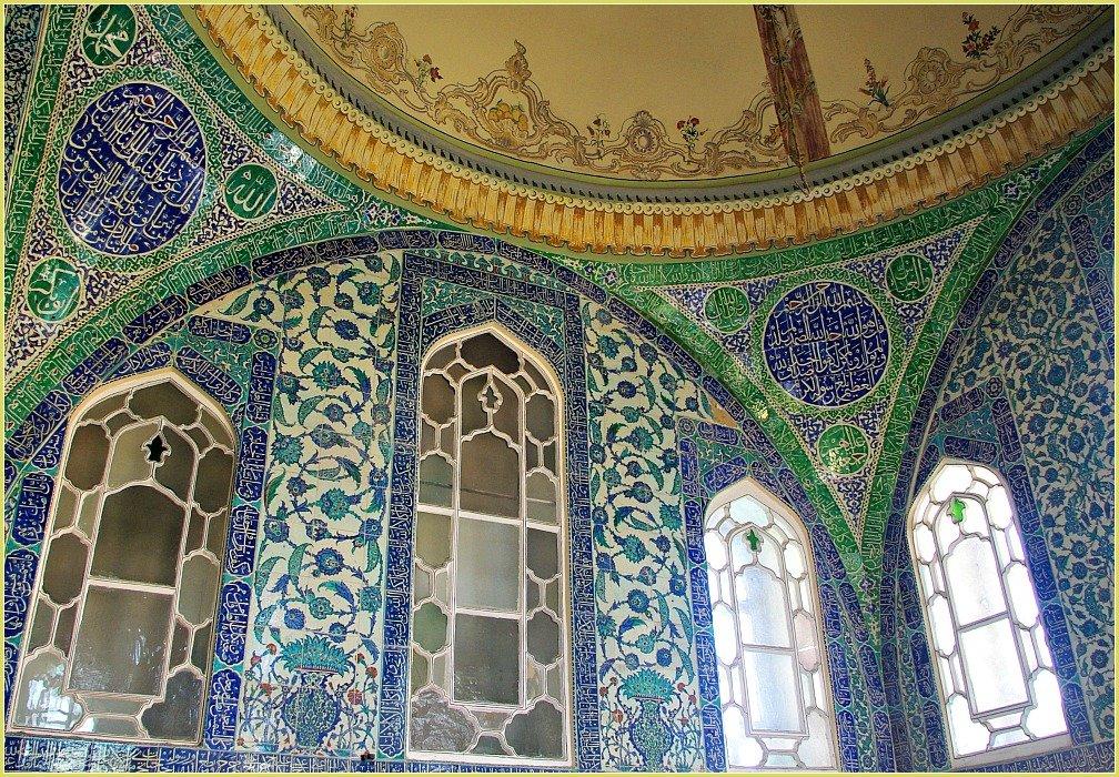 Topkapi Palace Views in Istanbul - Palace Harem Interior Tiles and Windows