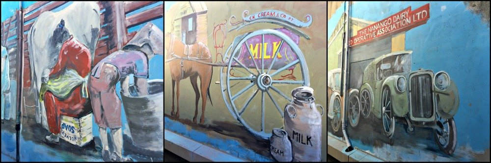 Nanango Murals - History of Cream as portrayed by artist Will Nelson