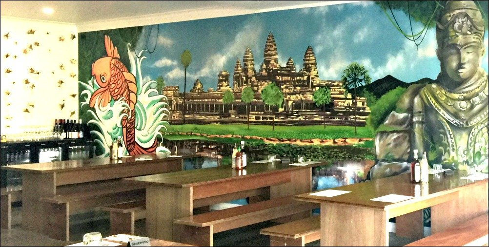 Bao Down Murals add to the atmosphere at this Mount Coolum restaurant