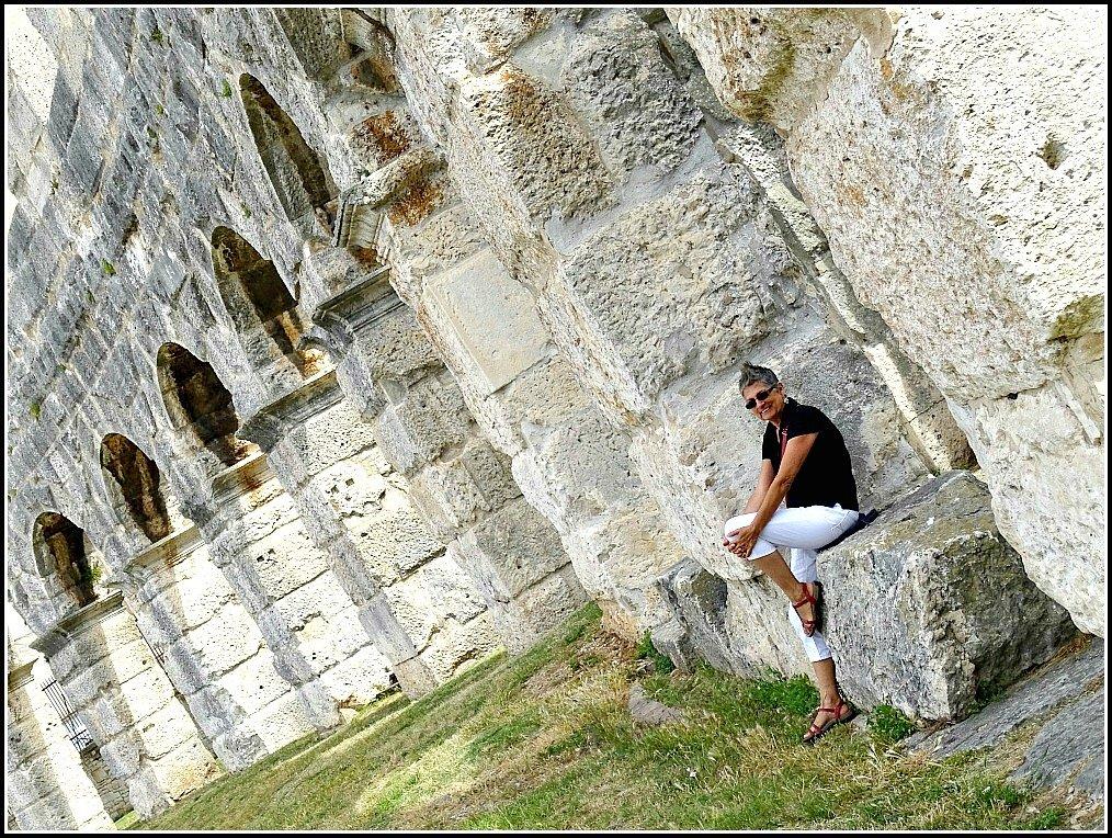 Jan from Budget Travel Talk turning Pula Arena Croatia upside down