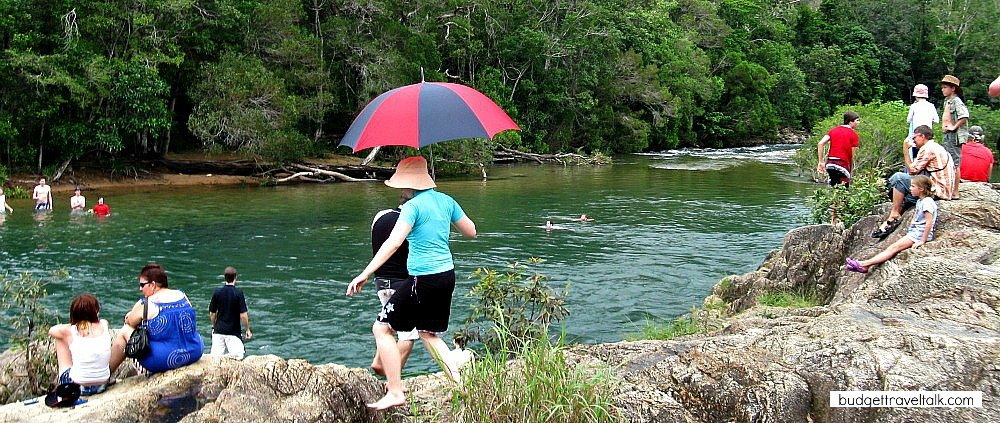 Big Crystal Creek at the base of Mt. Spec North of Townsville is a good place to go swimming