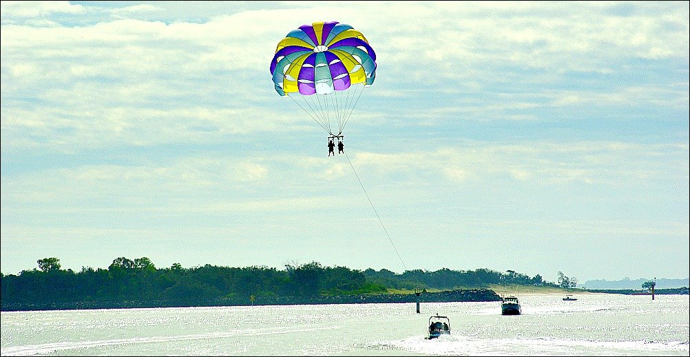 Parasailing on the Broadwater Surfers Paradise on the Gold Coast