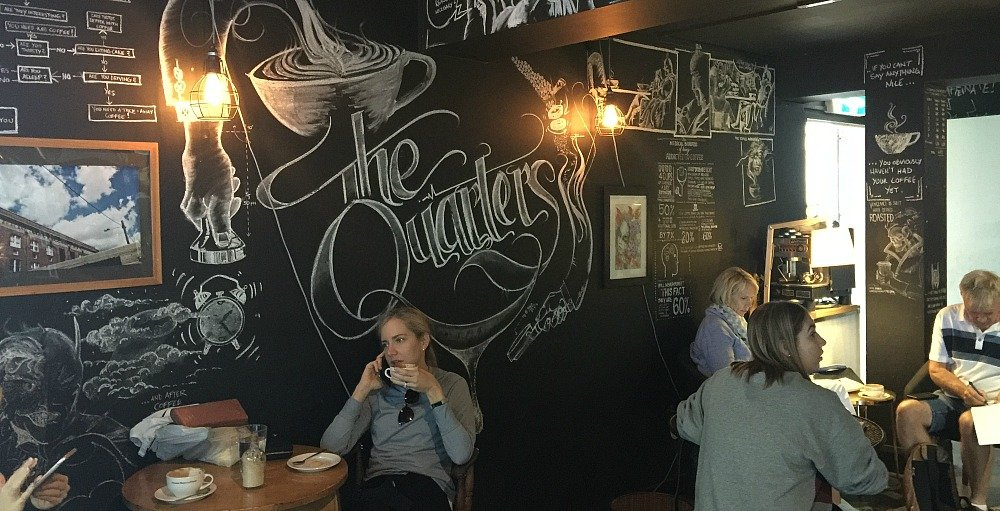 The Quarters Cafe Townsville CBD is beside Coffee Dominion and Across from Millie J's.