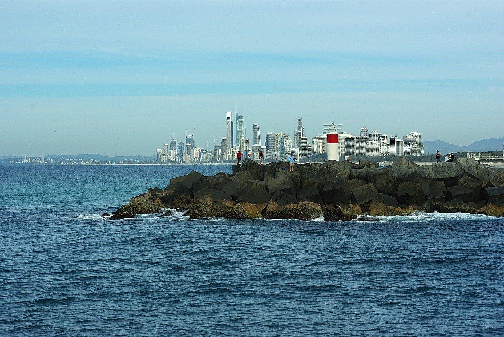 Coming back through The Spit Surfers Paradise Gold Coast