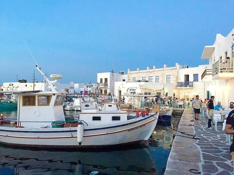Naoussa Harbour on the Greek Island of Paros
