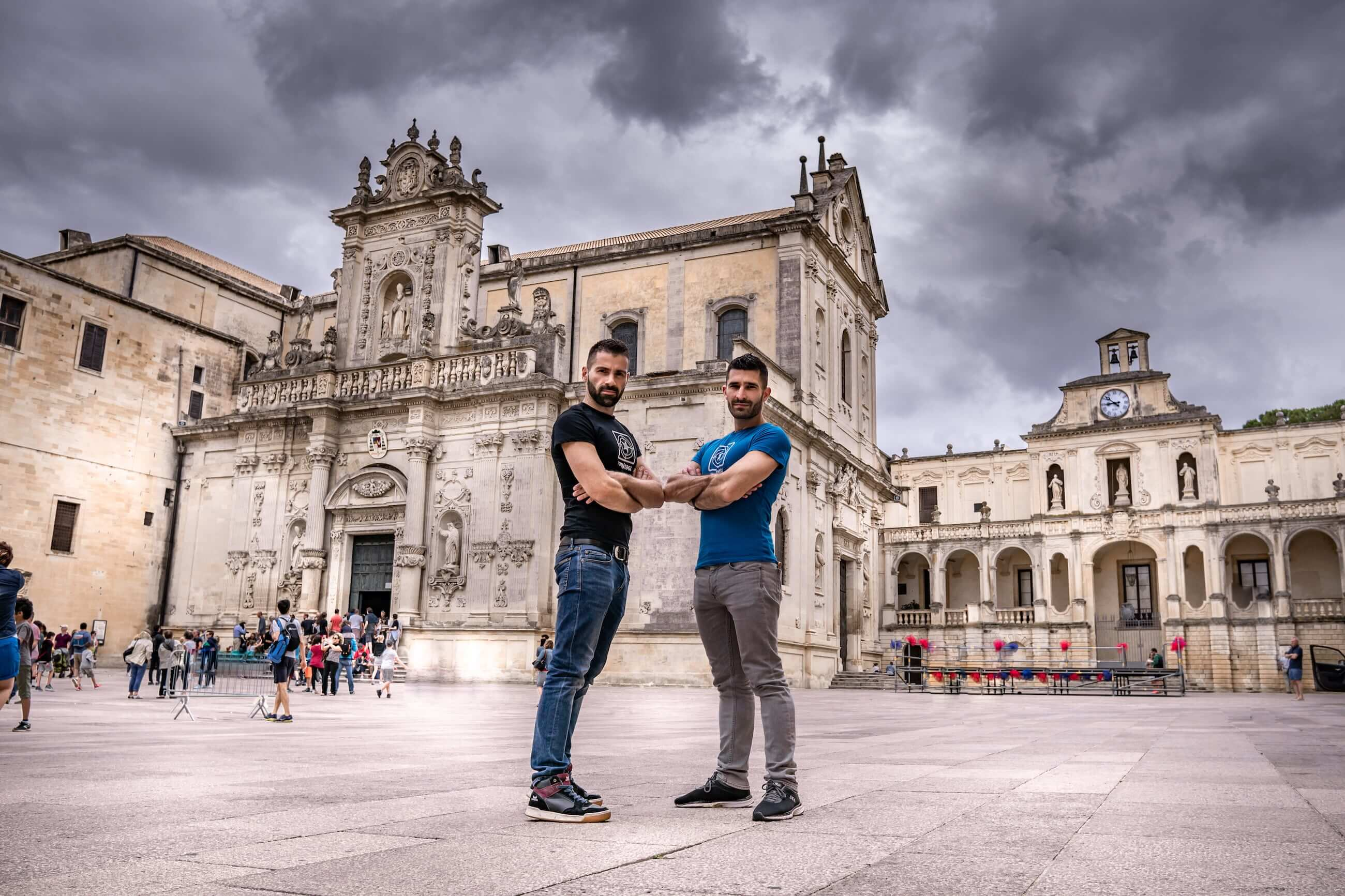 A Photo of Puglia Lecce Piazza Duomo Italy and budget travel tips for your Europe Bucket List