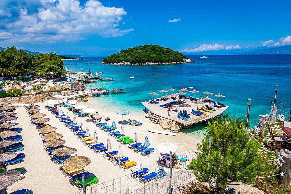 Ksamil beach in Albania is a budget friendly destination with interesting sights nearby