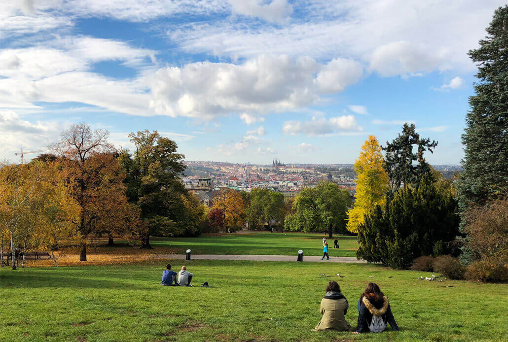 Photo of Riegrovy Sady Park Prague which is a budget tip on our bucket list for europe
